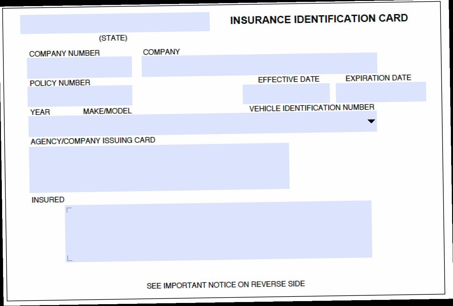 Proof Of Insurance Card Template What Will Proof Of With Proof Of