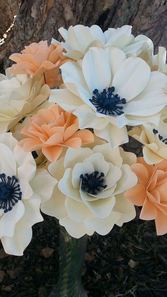 Paper Flowers - Stemmed - Mix Lot - Set of 24