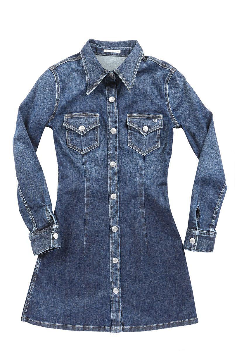 1d8effdf26 Alexa Chung for AG Jeans The Pixie denim mini dress