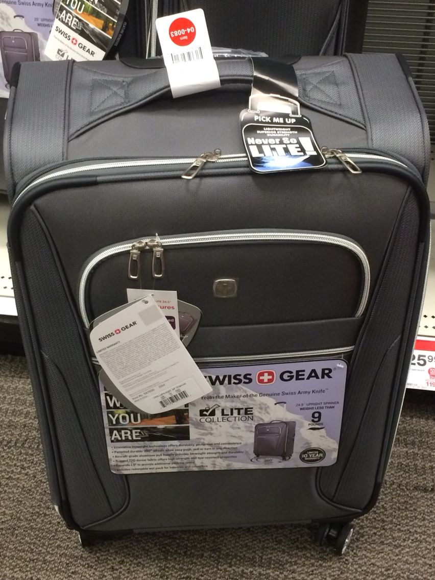 Swiss Gear lightweight luggage Charcoal 24