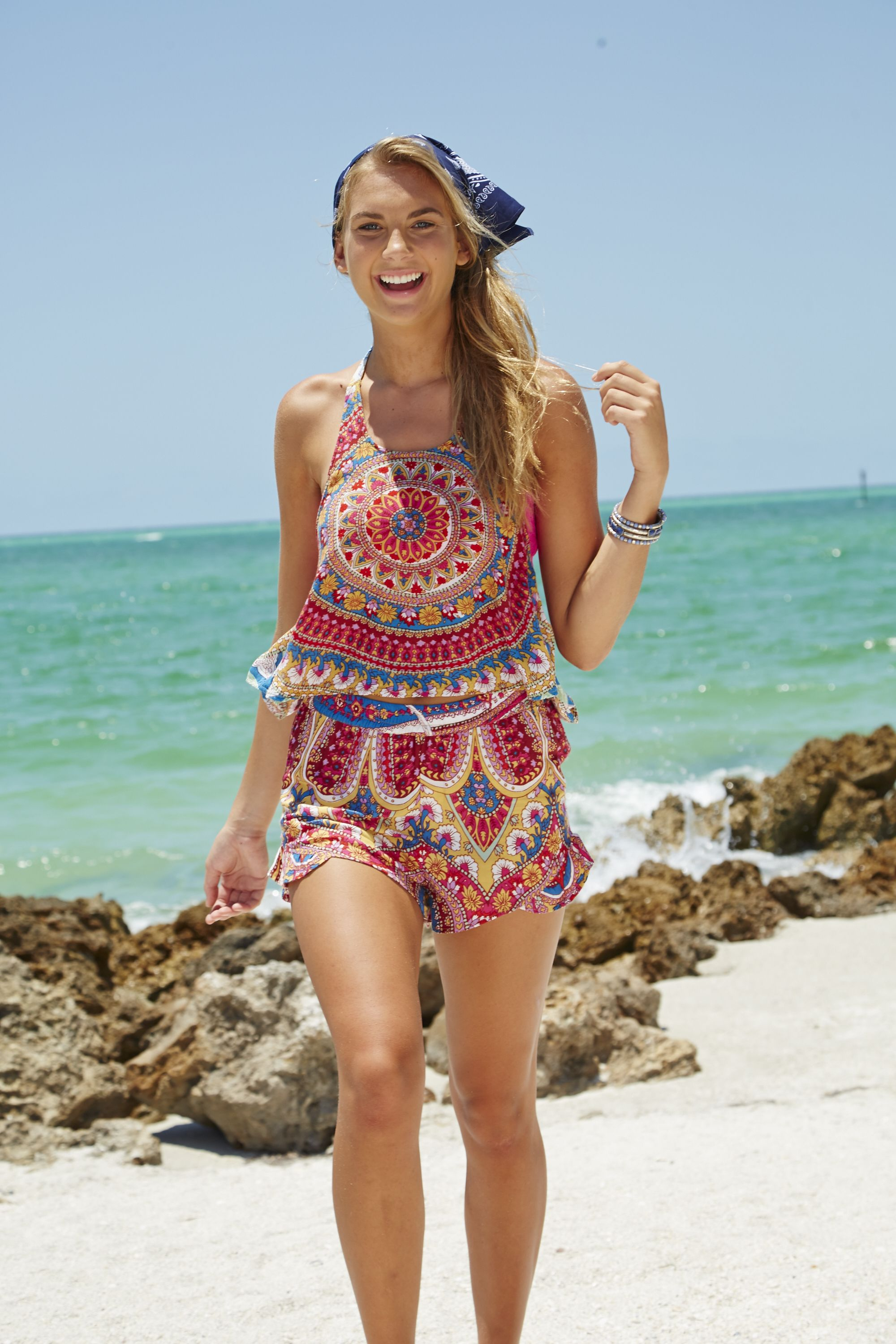 55d04d4f12326 Find the latest trends in swimwear or beachwear with beach dresses, mix and  match swimwear, bathing suits for juniors and match with a new pair of fun  flip ...
