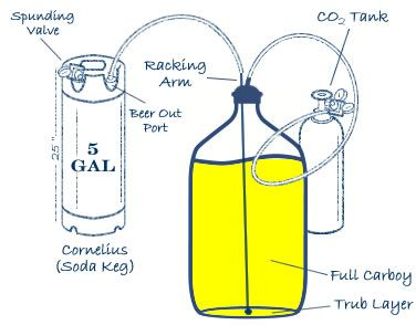 Closed Carboy To Keg Transfer System Beer Pinterest