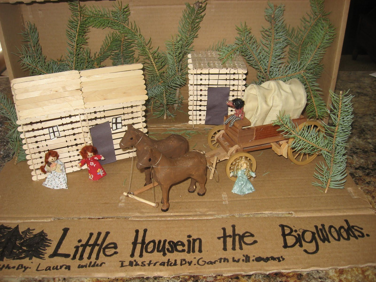 Diorama Little House Wood Crafts Crafts