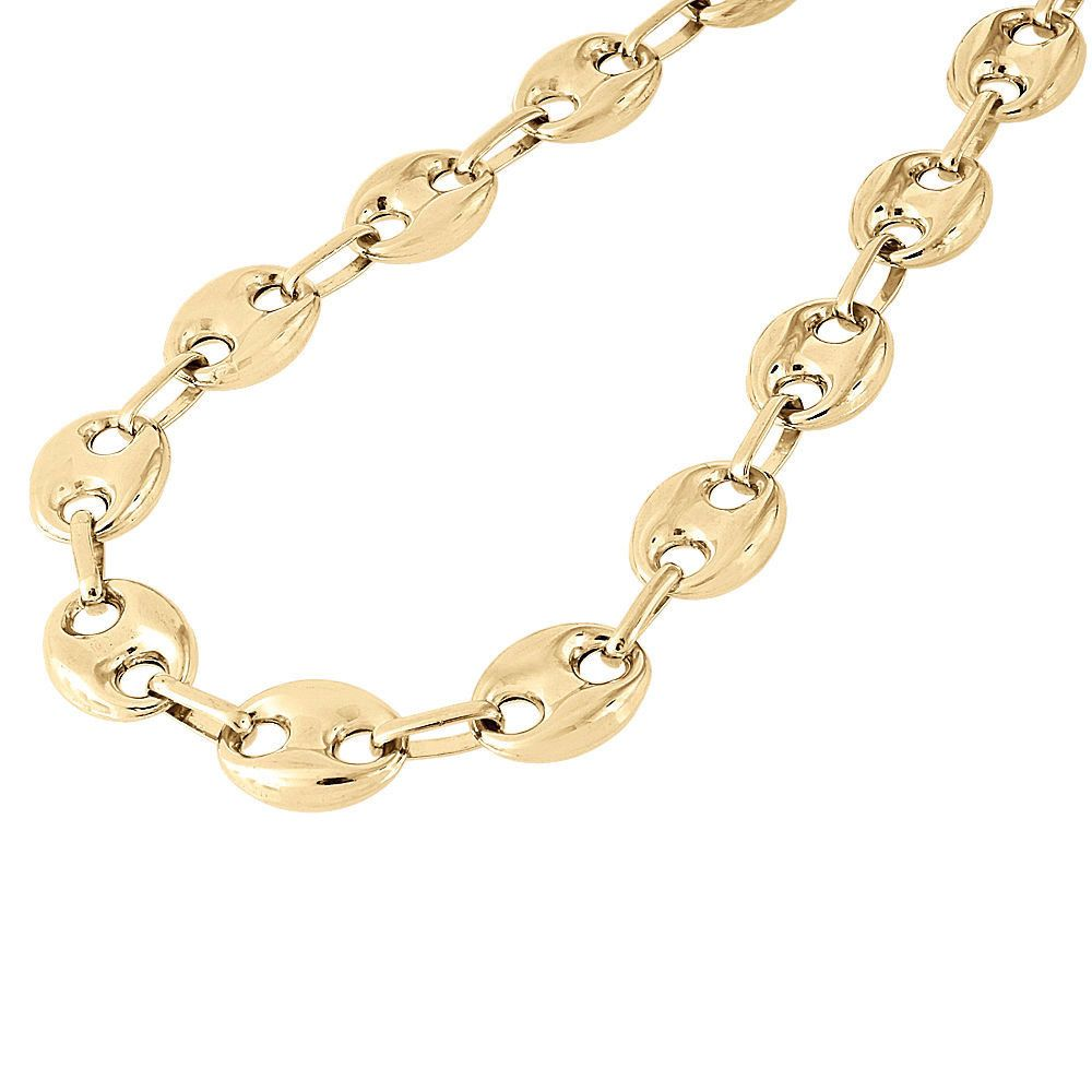 Decadence 14k Gold 7.70mm Puffed Mariner Link Chain, Women's