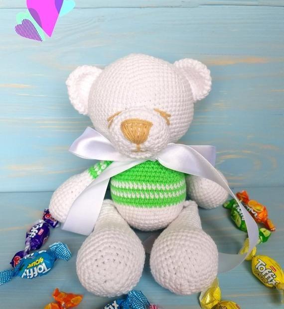 Crochet teddy bear, Crochet toy, Teddy bear plush, Teddy bear softie,Amigurumi Teddy bear, Ready to ship #crochetteddybears