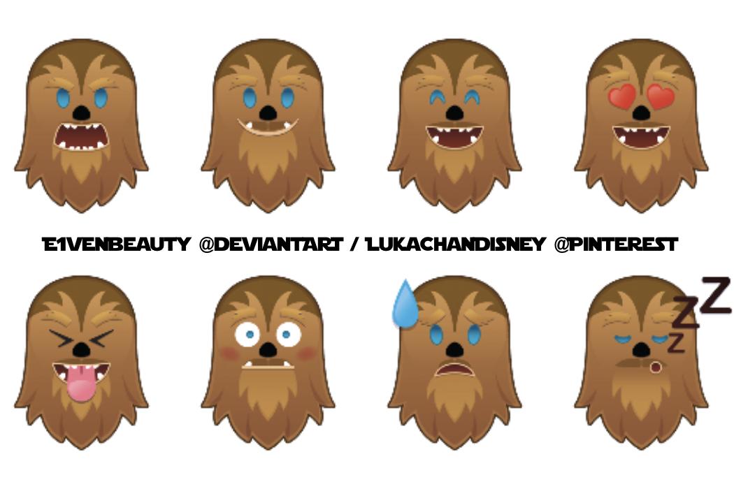 Chewy As An Emoji X8 Drawing By Disney Starwars Disney Emoji Blitz Disney Emoji Disney Pictures