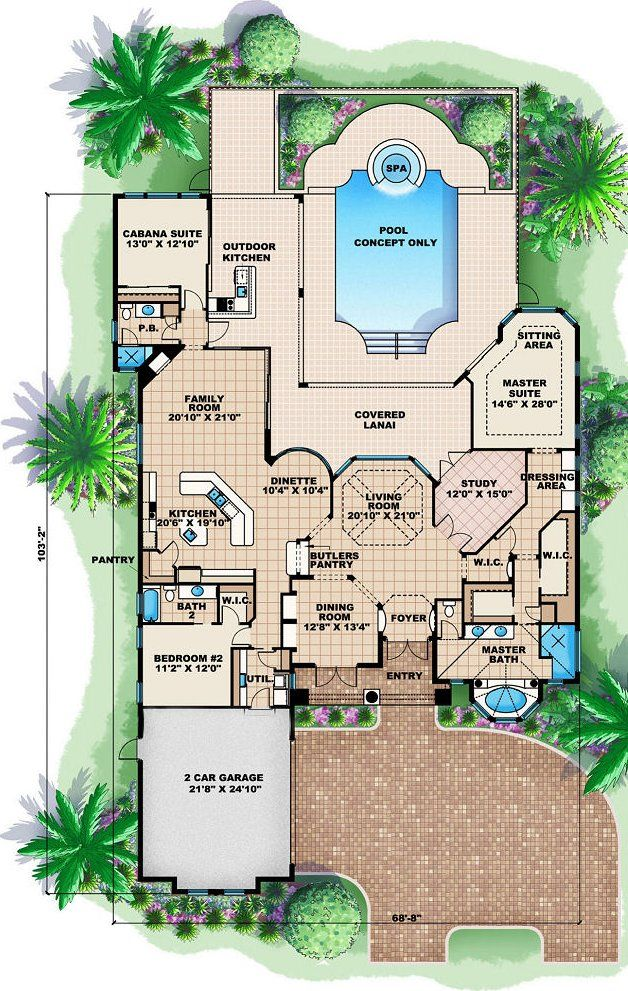 1st floorplan floor plans pinterest mediterranean for Two story mediterranean house plans