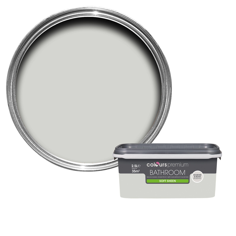 Groovy Colours Bathroom Grey Hints Soft Sheen Emulsion Paint 2 5L Home Interior And Landscaping Spoatsignezvosmurscom