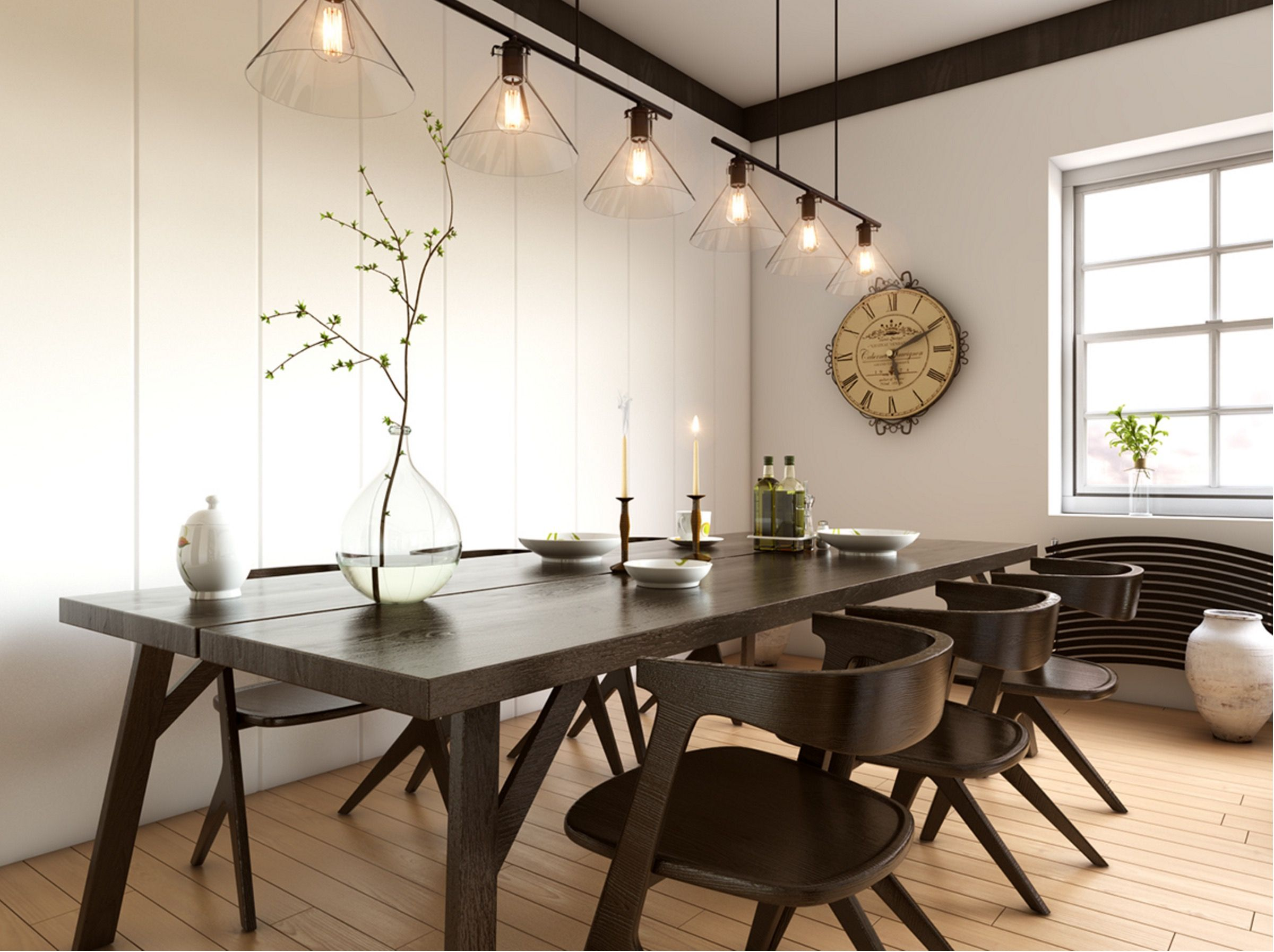 inspirational ideas for white and wood dining