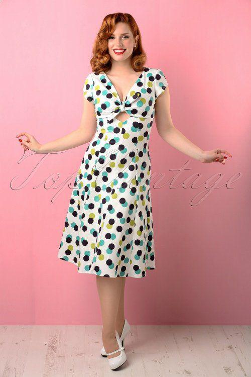 ~ Dress Clothing In Bettie White Page 50s Trevi Swing BordeWQCx