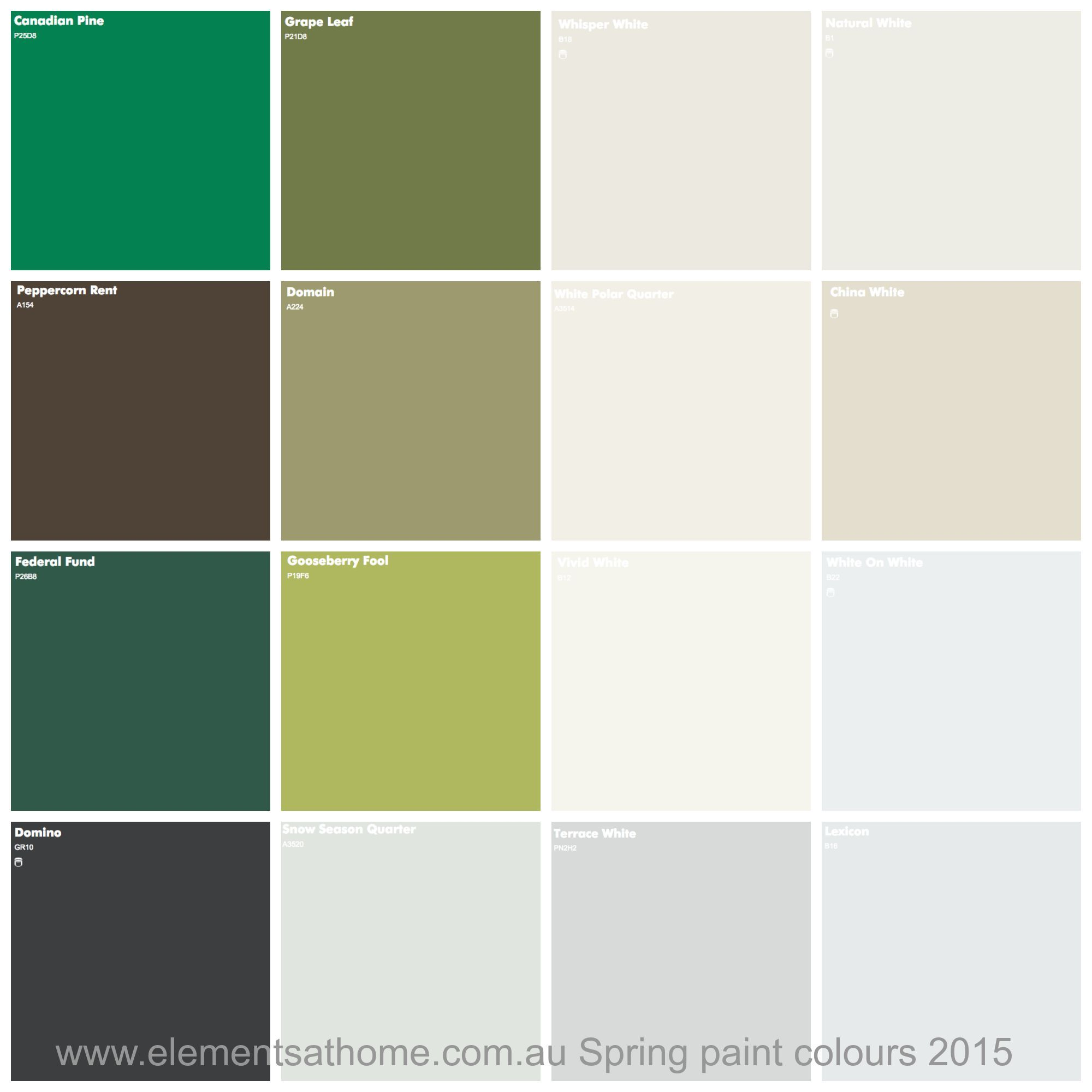 Dulux Spring Paint Colours 2015. How to add them to your home.   New ...