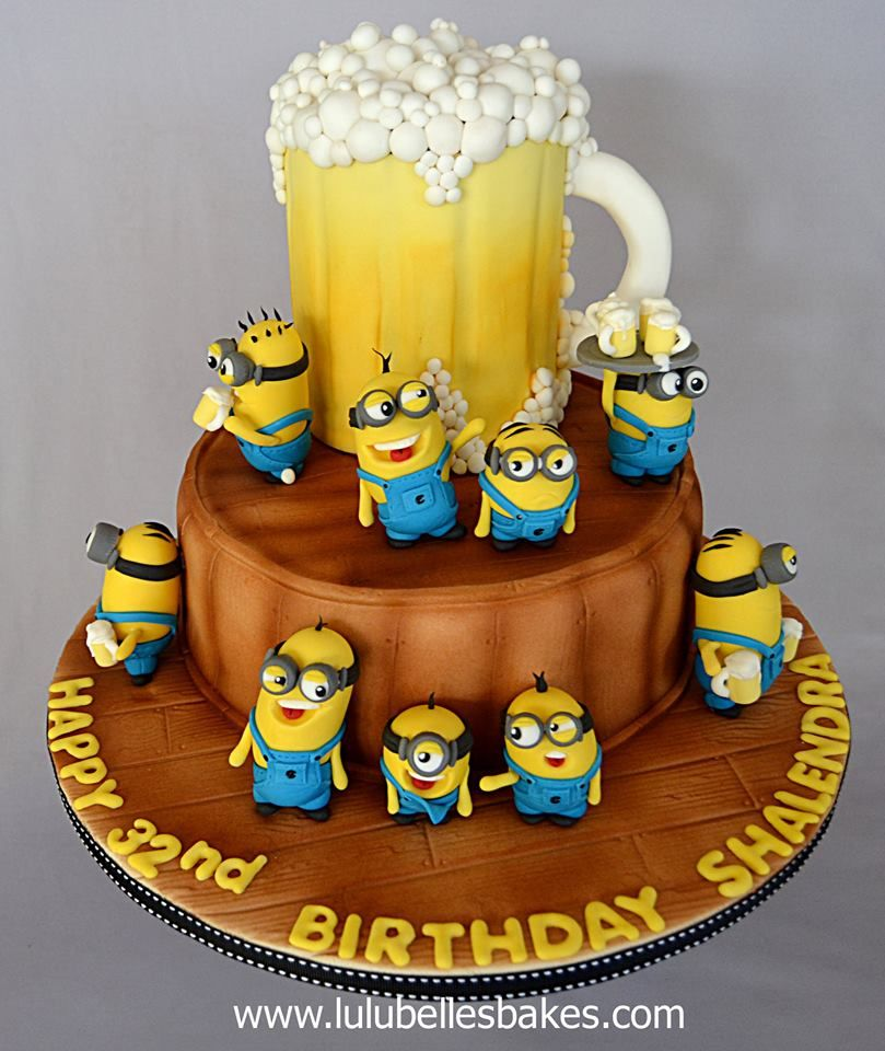 Beer And Minions Cake