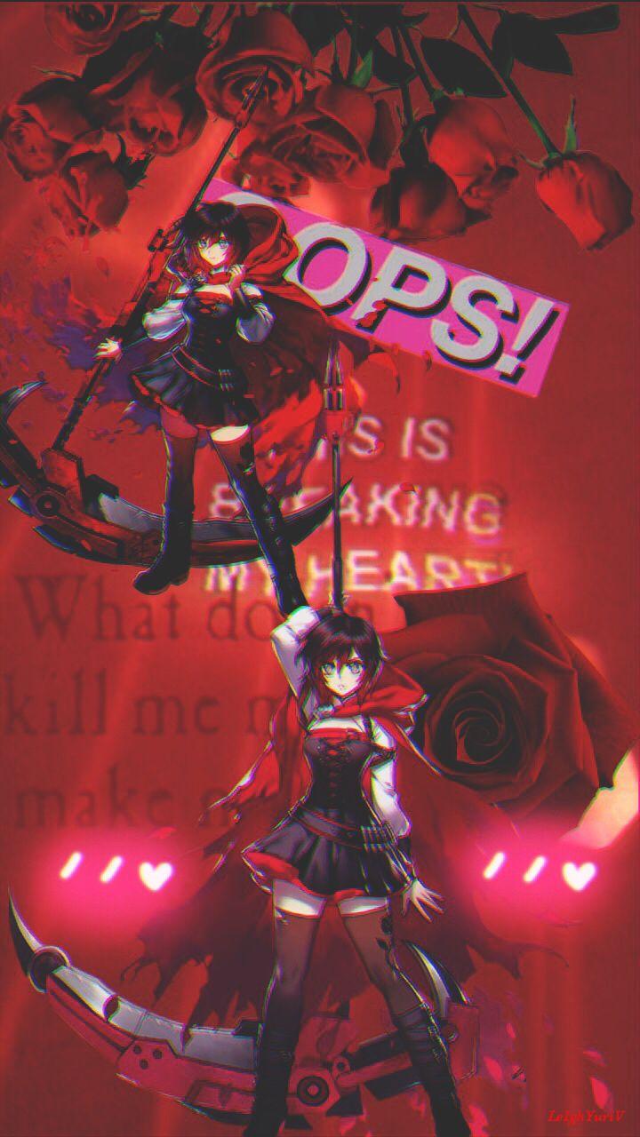 rwby rwbyfanart anime aesthetic red photoedit