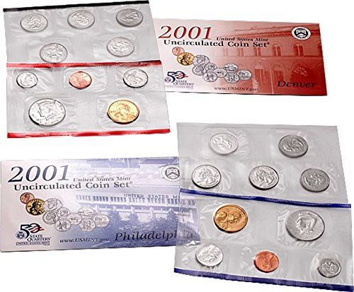 2001 uncirculated coin set worth