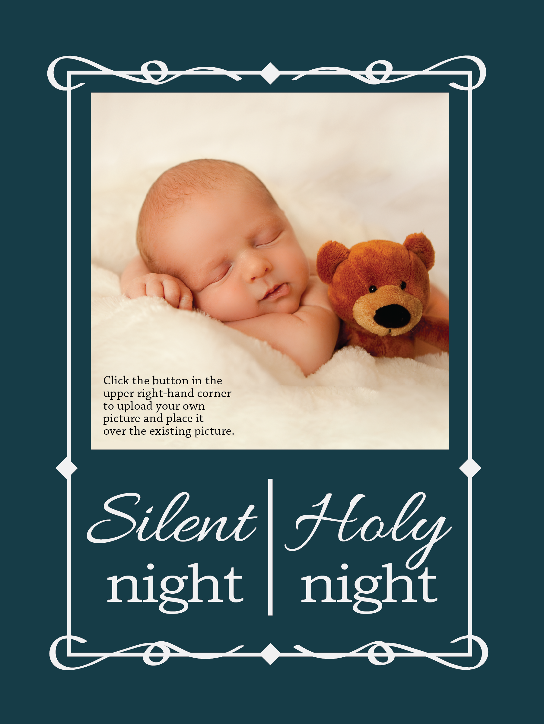 Holiday Card Design Silent Night Holiday Card Template Just Look At This Cute Baby Holiday Design Card Holiday Card Template Card Design