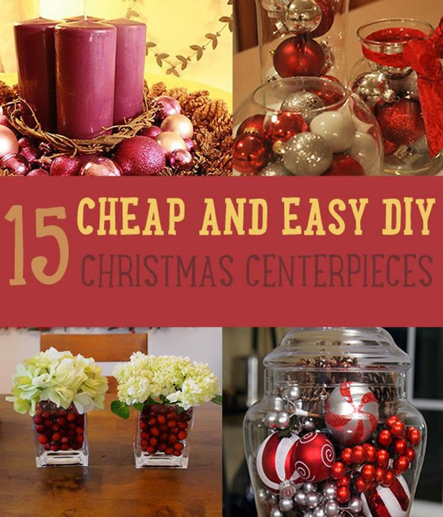 15 cheap and easy diy christmas centerpieces christmas centerpiece ideas - Diy Christmas Centerpieces