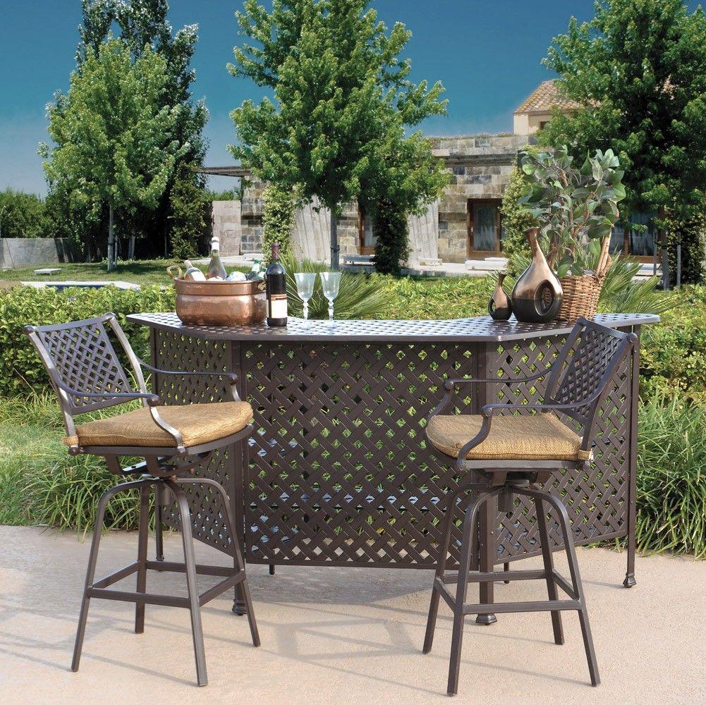 outdoor bar hocker und tisch set