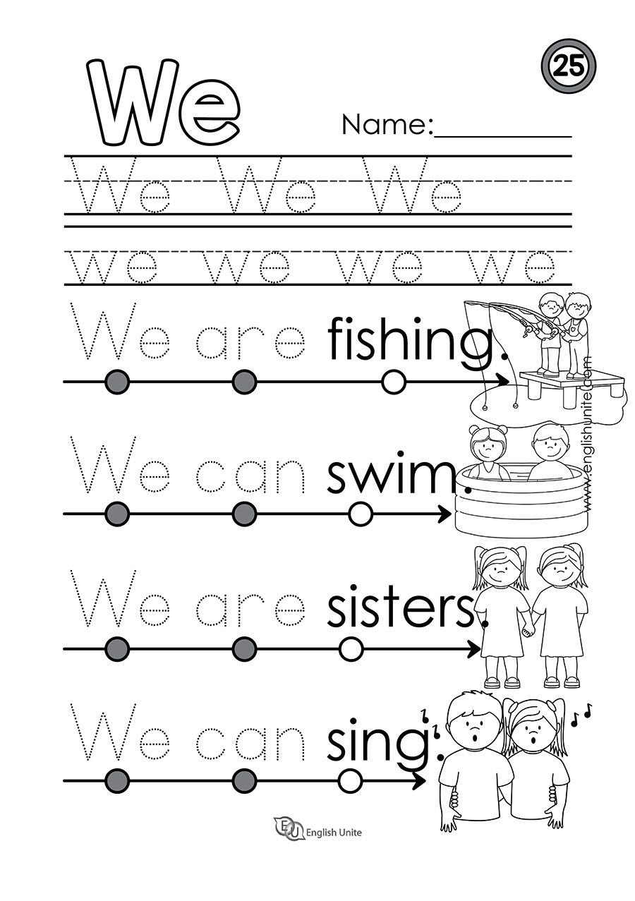 Beginning Reading 25 We English Unite Kindergarten Reading Worksheets Kindergarten Reading Sight Words Kindergarten [ 1277 x 900 Pixel ]