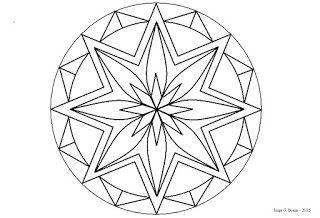 Arte No Paint Desenho Para Colorir Rosacea Estrelas Desenhos