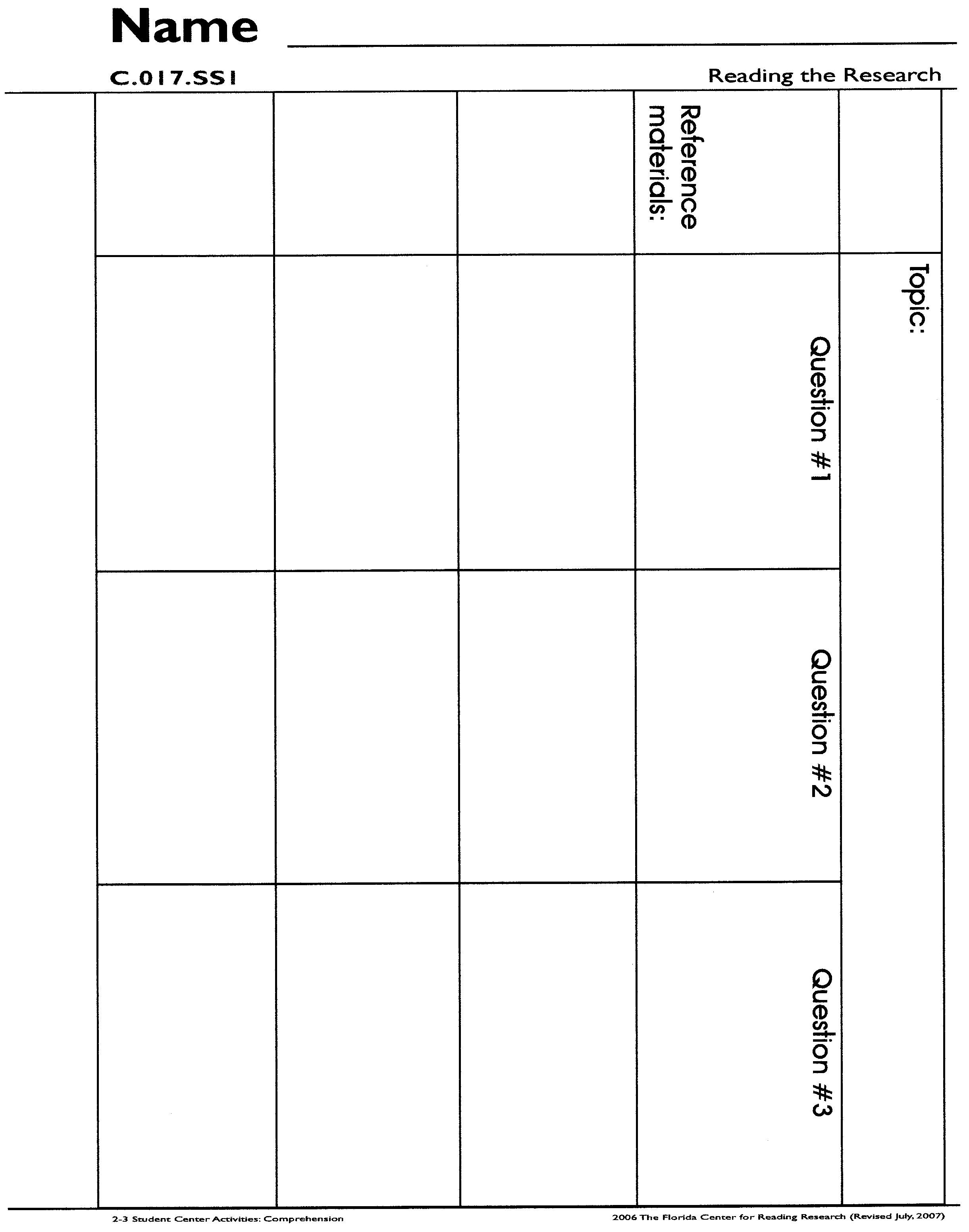 graphic organizers for research papers Research paper thesis graphic organizer - ecegmuedu.