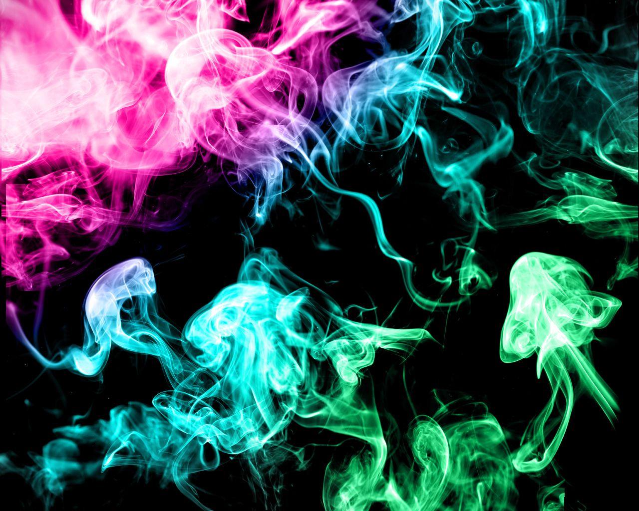 Sensuous Colored Smoke Photography HD Wallpaper Wallpaper