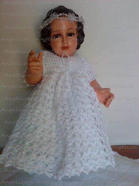 Crochet Vestido Niño Dios Vestidos Para Bebé De