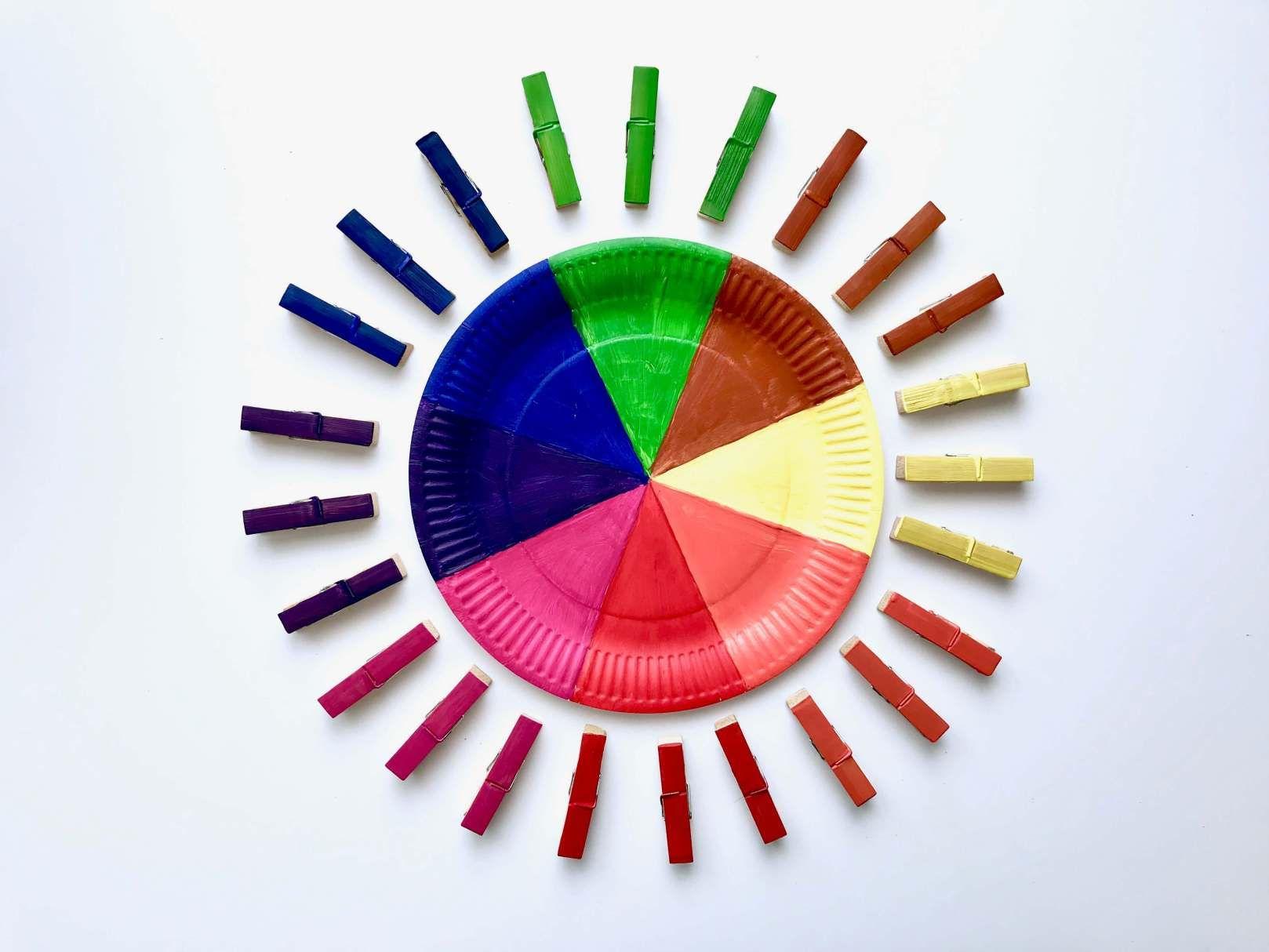Diy Farbsortierspiel Farben Spielerisch Lernen Farben Sortieren Spielerisches Lernen Farben Lernen