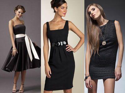 Черное платье в новый год фото