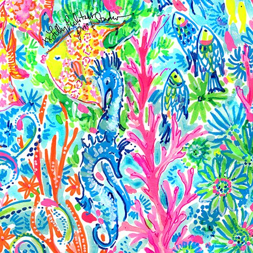 Fall Lilly Pulitzer Wallpaper Seas The Day Lilly 5x5 Lily Pulitzer Wallpaper Lilly