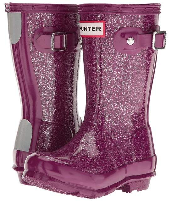 7ef445016c90 Hunter Original Kids' Glitter Finish Wellington Rain Boots Kids Shoes