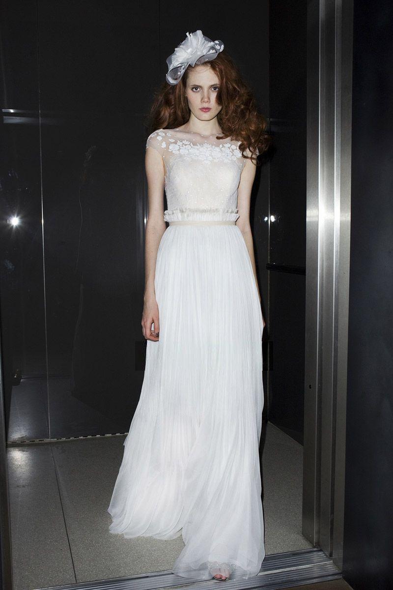 Cheap modest wedding dresses  original  Lace Dress  Pinterest  White long prom dresses Long