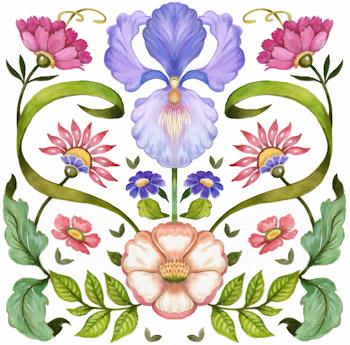 Purple Iris Kit By Cook Debbie In 2020 Iris Art Flower Canvas Purple Iris
