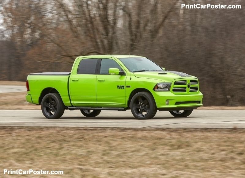 Ram 1500 Sublime Sport 2017 poster Lifted trucks, Lifted