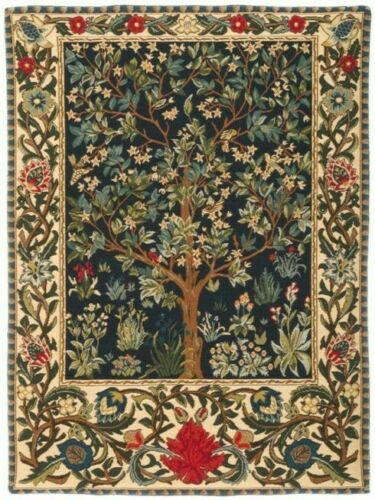 26 66cm Tree Of Life Wm Morris Belgian Tapestry Wall Hanging Lined Rod Sleeve Tree Of Life Tapestry Tapestry Wall Hanging Scenic Wall Tapestry