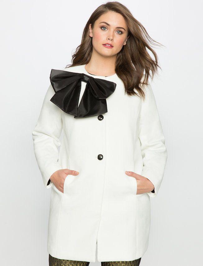 88275fbee37 Studio Bow Coat from eloquii.com Plus Size Coats