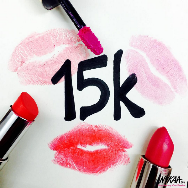 Kisses to all of you for making this happen! xo  P.S. - Stay tuned for ₹15k worth of giveaways in the coming weeks!
