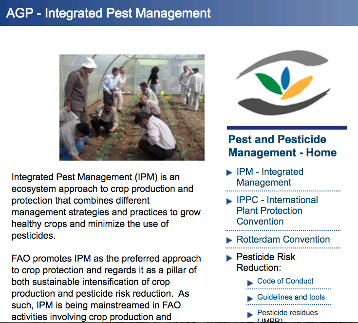 Food And Agriculture Organization Of The United Nations 2018b Agp Integrated Pest Management Integrated Pest Management Pest Management Plant Protection