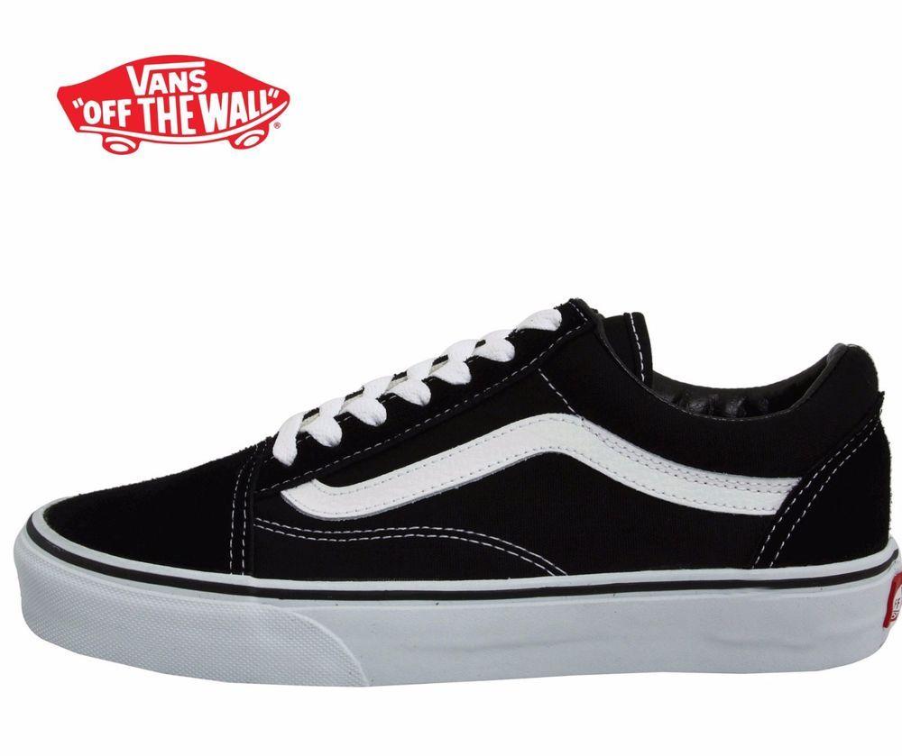 998cb5256c0211 US-DEALS Men s Vans Old Skool Fashion Sneaker Classic Black White Canvas  Suede All SZ