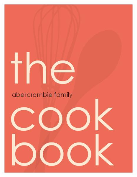 diy cookbook    warning