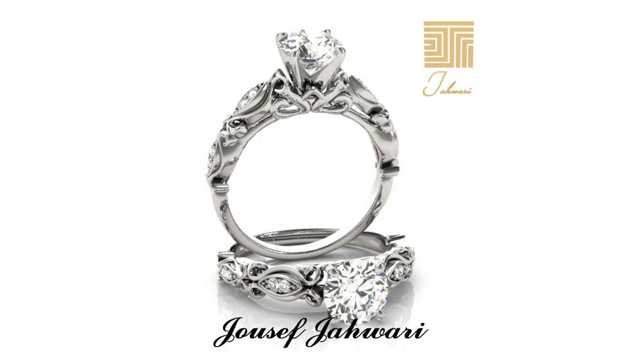 اجمل دبل خطوبه في العالم ذهب والماس Engagement Rings Jewelry Engagement