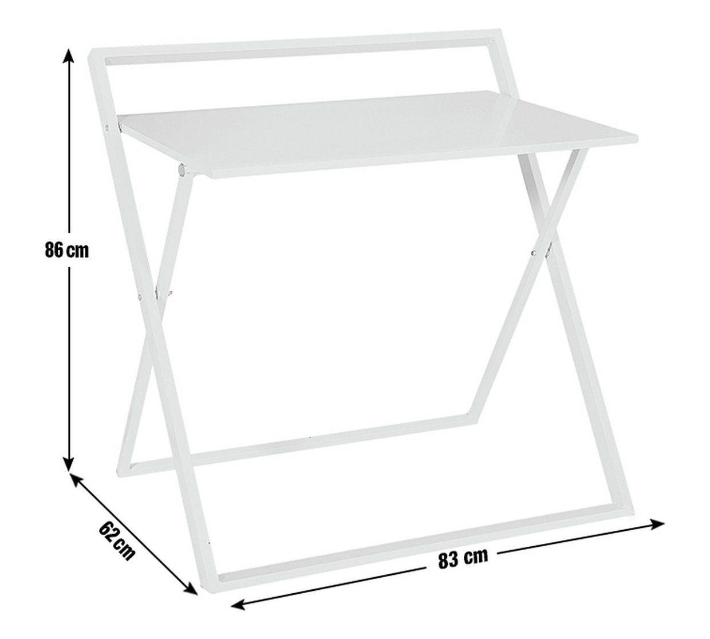 Buy Argos Home Compact Folding Office Desk White Desks White