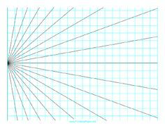 Printable Perspective Grid 1 Point Left Landscape Drawing Grid Perspective Opt Art