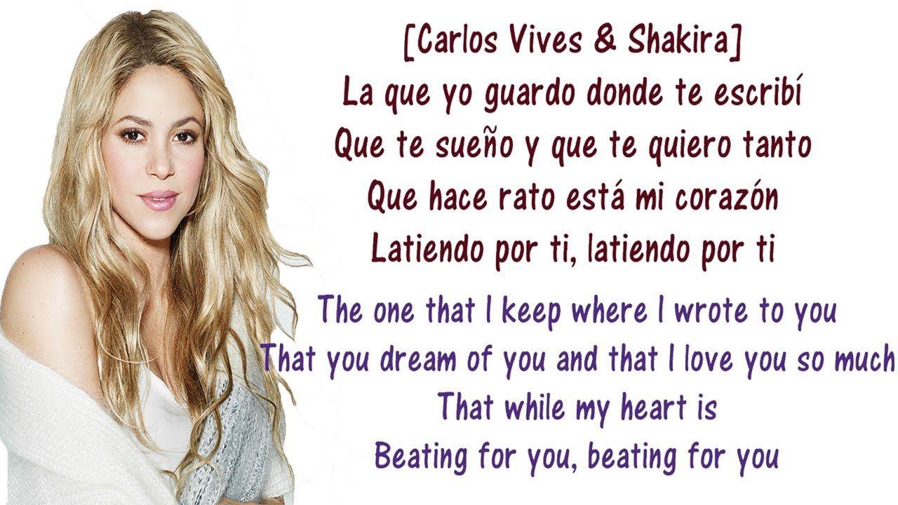 Carlos Shakira La Bicicleta Lyrics English And Spanish The
