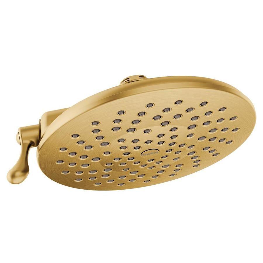 Moen Velocity Brushed Gold 2 Spray Rain Shower Head S6320bg In