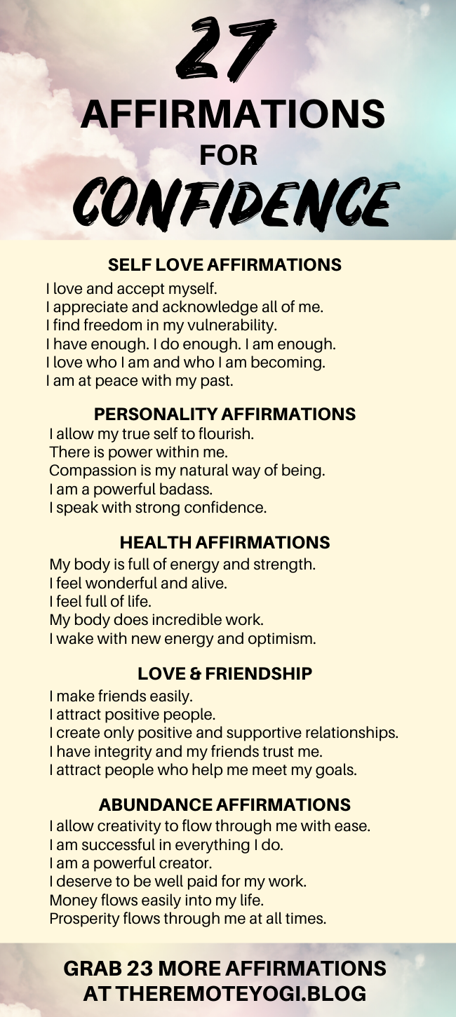 🌸 Feel Like a Confident Badass Using These Affirmations
