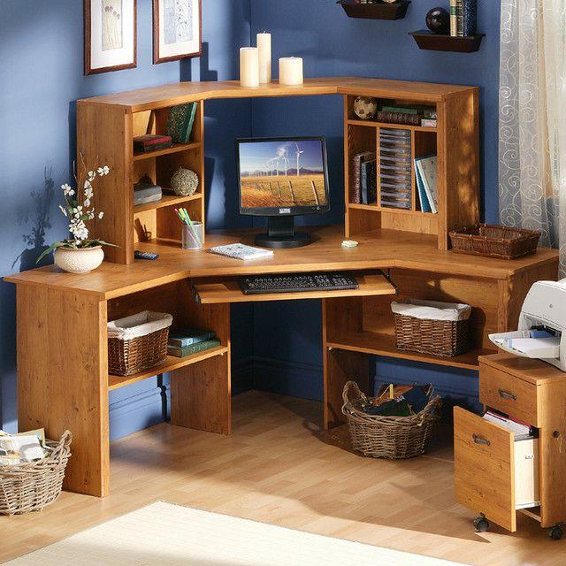 Kids Corner Desk with Hutch DIY Bedroom desk Corner