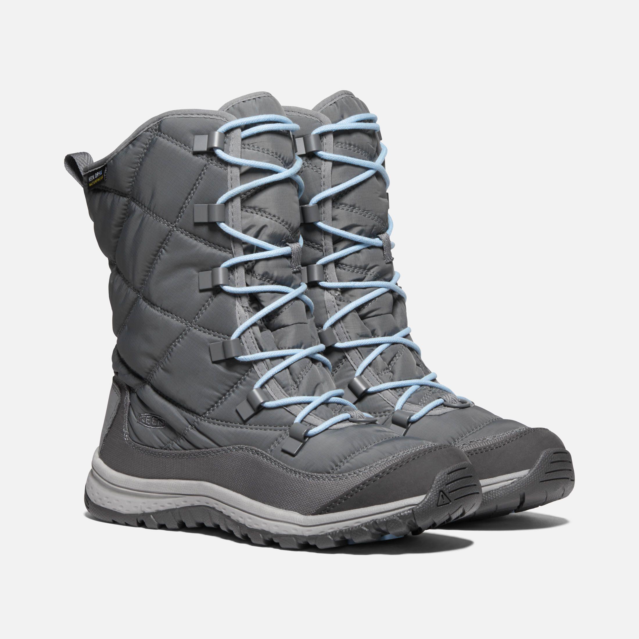 Photo of Keen Women's Waterproof Terradora Lace Boot Size 11, In Steel Grey/Forget Me Not