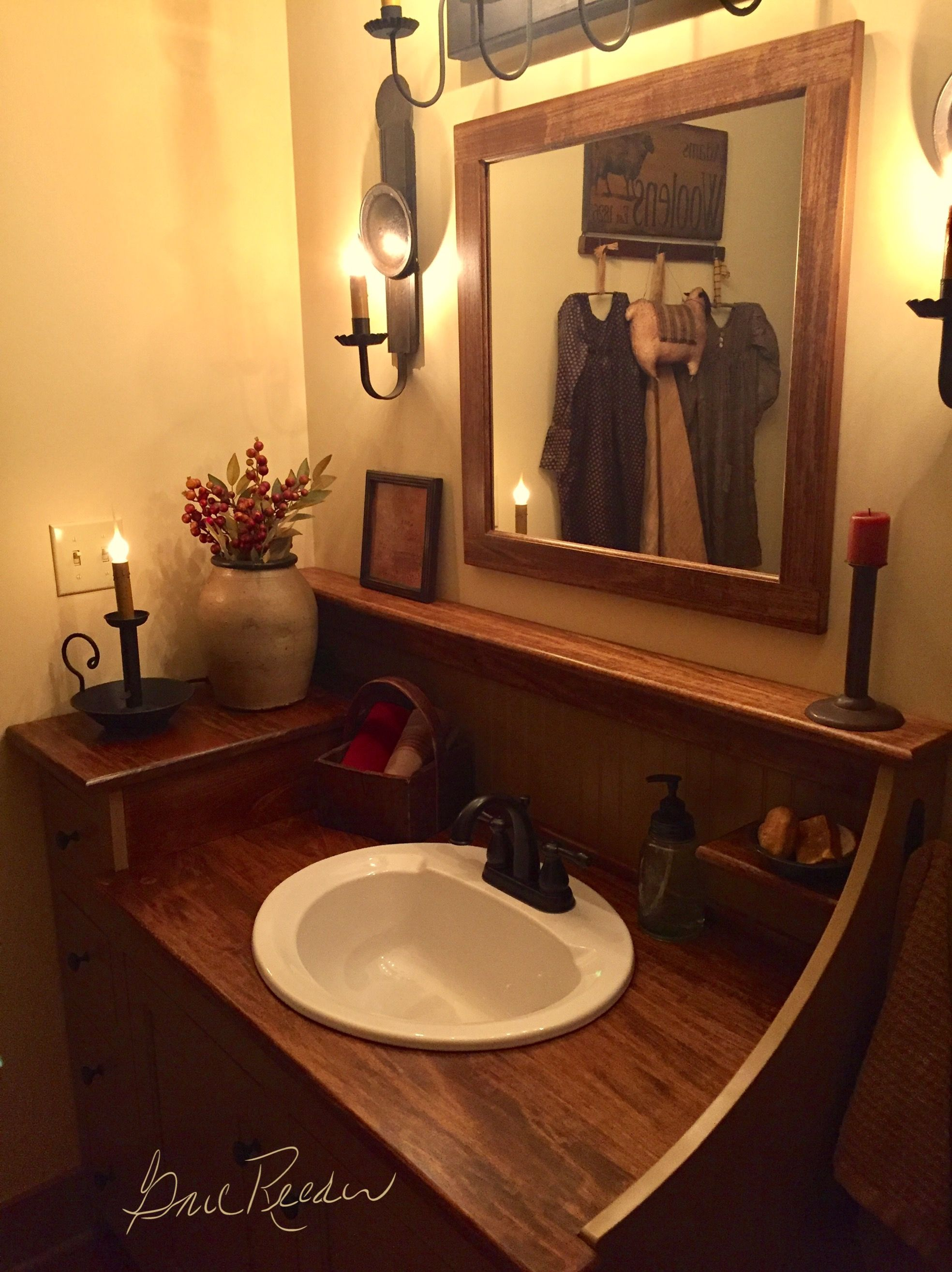 American Colonial Bathroom #1 Rustic Design Primitive Bedroom