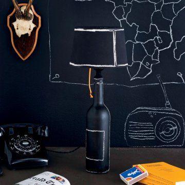 une bouteille transform e en lampe black pinterest craft. Black Bedroom Furniture Sets. Home Design Ideas