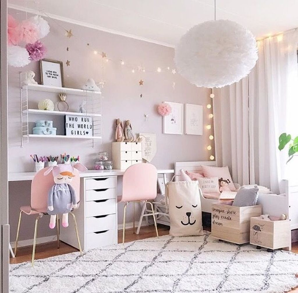 39 Elegant Kids Bedroom Design Ideas For Little Girls images